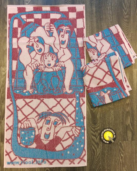 handoek naar eigen ontwerp: handdoek all over jaquard weving
